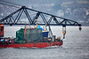 'Nancy Glen' aboard 'Barge BD6072' passing Cloch Point - 14 April 2018