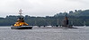 'SD Reliable' Assists US Submarine - Gareloch - 8 August 2013