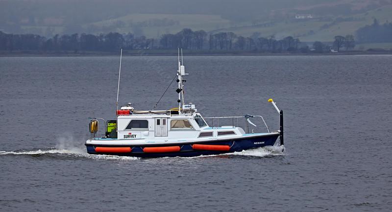'Newark' Survey Vessel passing Port Glasgow - 13 March 2014