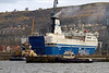 MV Finnarrow Exiting Inchgreen Dry Dock - 20 March 2013