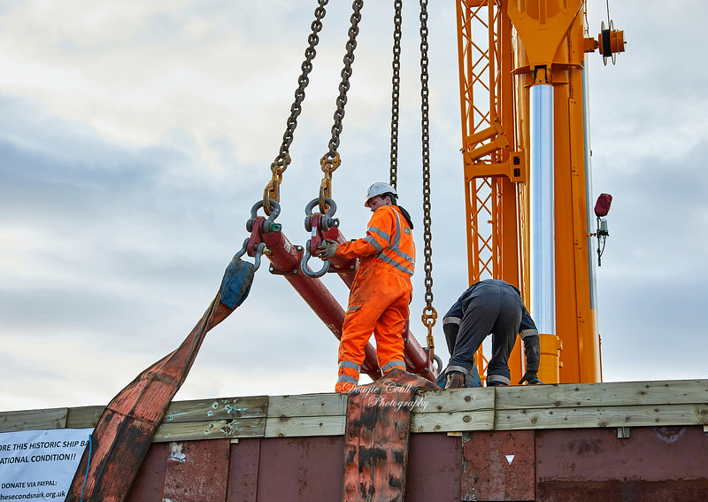 Working on the Second Snark at Garvel Dry Dock - 4 March 2020