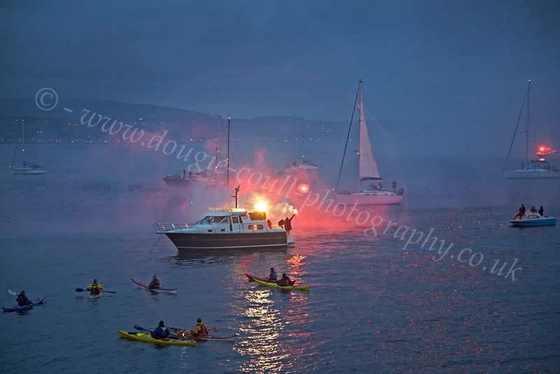 Save Clyde Coastguard Flare Demonstration - Off Greenock Esplanade - 31 August 2012
