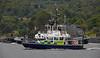 MOD Police Boat 'Skye' escorting 'HMS Artful' at Rhu Spit - 19 August 2015
