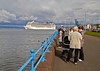 Onlookers Gather to watch the 'MSC Magnifica' Depart Greenock - 27 May 2013