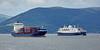 'Conmar Gulf' and 'Astoria' off Greenock Esplanade - 24 May 2016