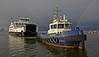 'Bruiser' assists 'MV Loch Shira' in to James Watt Dock - 4 February 2014