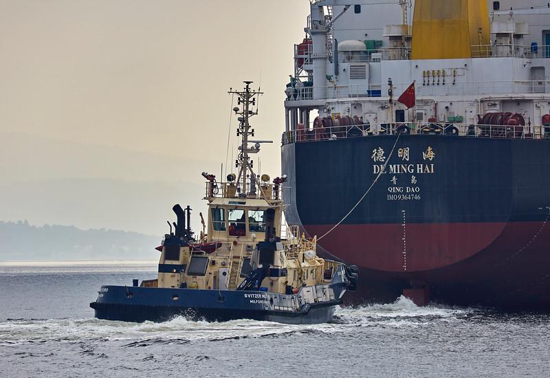 'De Ming Hai' passing Port Glasgow - 17 August 2016