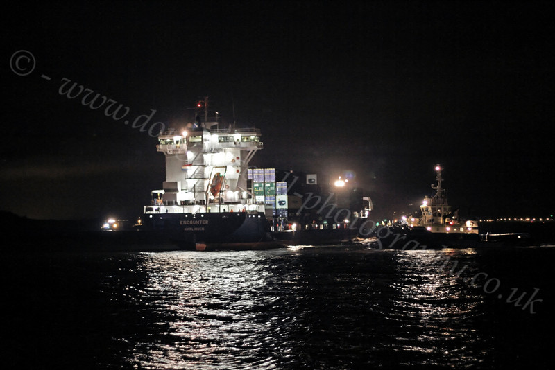Encounter Re-Floated and Tugs Assisting - Off Greenock Esplanade - 12 December 2011