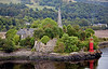 Dunglass CAstle and Henry Bell Monument from the River Clyde - 3 September 2014