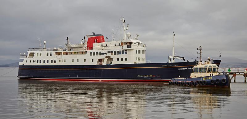 'Hebridean Princess' off James Watt Dock - James Watt Dock - 28 December 2016
