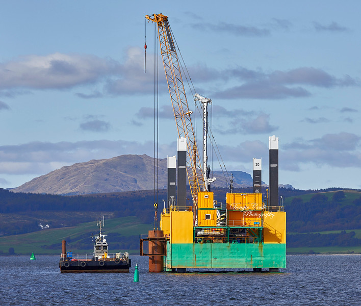 Drilling Rig off Greenock Ocean Terminal - 1 October 2019