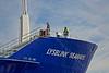 'Lysblink Seaways' berthing at Roseneath - 19 April 2015