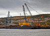 Cable Reel Barge Loading - Inchinnan Dry Dock - 5 May 2013