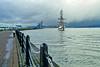 'Stavros S Niarchos' Approaching Custom House Quay, Greenock - 20 February 2015