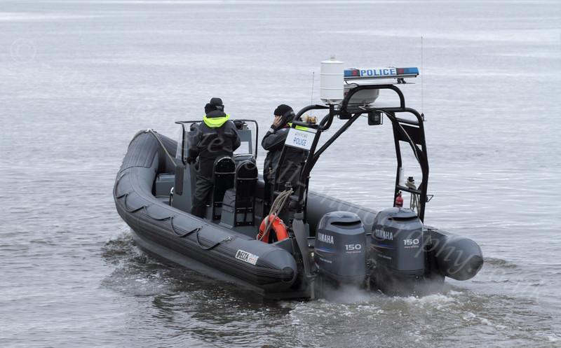 Police RHIB - Leaving James Watt Dock - 10 December 2011