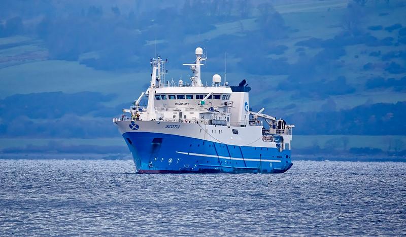 'MV Scotia' in Greenock - 24 November 2018