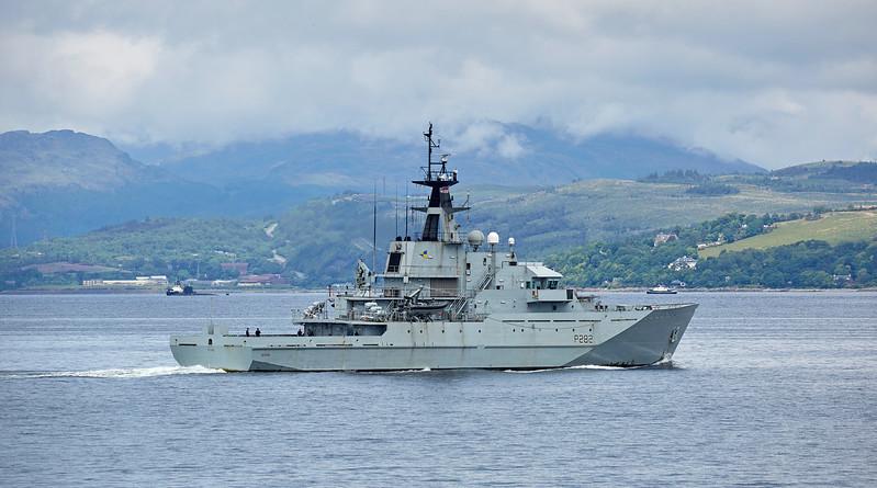 'HMS Severn' (P282) off Cloch Point - 5 June 2017