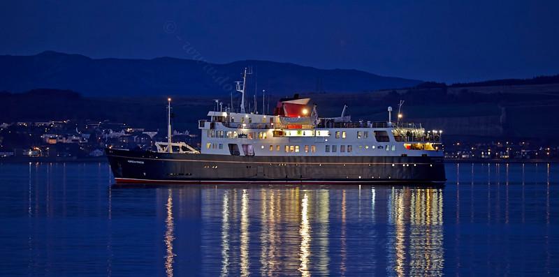'MV Hebridean Princess' off Greenock Esplanade - 11 March 2014
