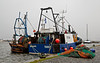 Trawlers on a Very High Tide at the Small Boat Harbour - 3 January 2014