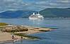 'Discovery' arriving at Greenock Esplanade - 29 June 2014