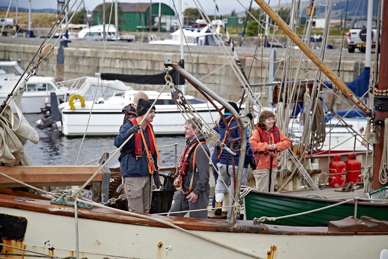 Tectona Crew Preparing to Sail from James Watt Dock - Greenock - 7 September 2012