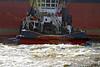 'Kestrel' Berthing the 'Cape Elise' at Inchgreen Repair Quay - 1 March 2014