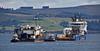 Tug Handover off Greenock Esplanade - 1 September 2015