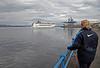 Cruise Ship MSC Lirica Leaving the Greenock Ocean Terminal - 24 August 2012