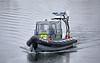 Police Rib Delta at James Watt Dock - 27 July 2020