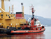 'Kommandor Calum' and Tug 'AGIS' - Great Harbour - 16 July 2012