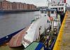 'Coruisk' Repaired Bow Visor at James Watt Dock - 7 April 201