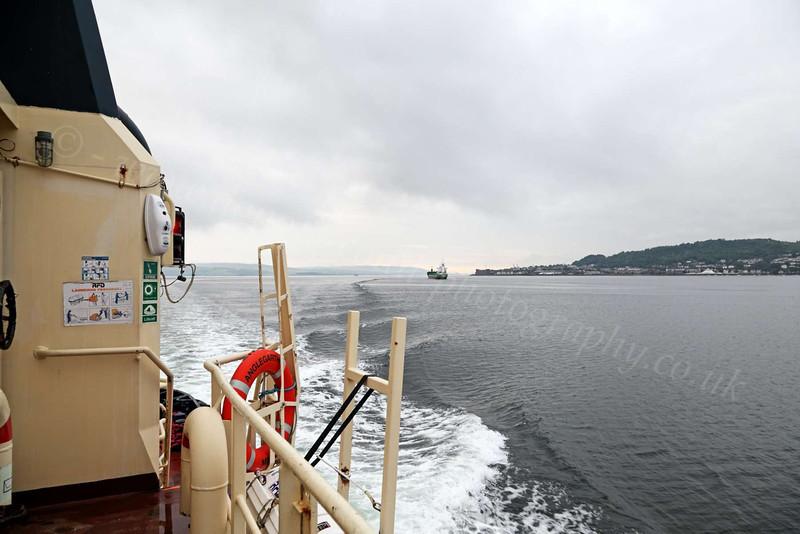Anglegarth Leaving Greenock - 12 June 2012
