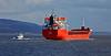 'Muros' and 'Mount Stuart' passing Port Glasgow - 10 March 2015
