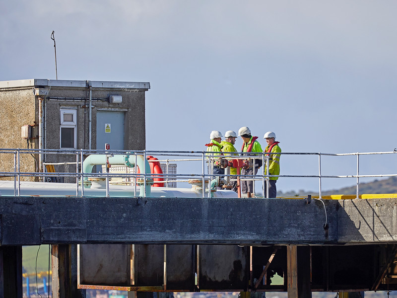 Berthing Party at Loch Striven Jetty - 12 September 2018