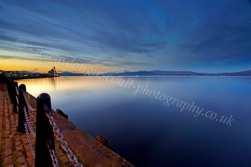 Sunset from Custom House Quay - 21 October 2012
