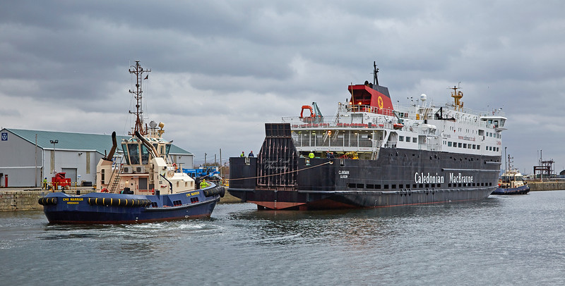 'MV Clansman' at James Watt Dock - 22 March 2018