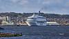 Silja Europa at Greenock - 21 October 2021