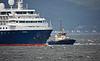 'Minerva' off Greenock Esplanade - 8 August 2016