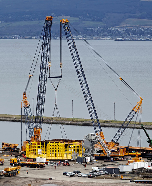 Cable Reel - Final Preparations for Barge Loading - Inchinnan Dry Dock - 5 May 2013