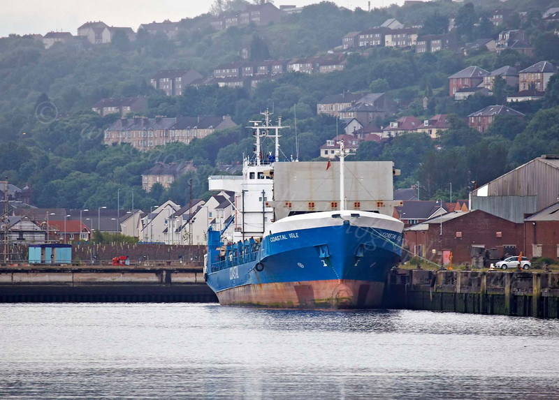 'Coastal Isle' Awaits Her Fate After a Recent Grounding - Inchgreen Dock - 3 July 2012
