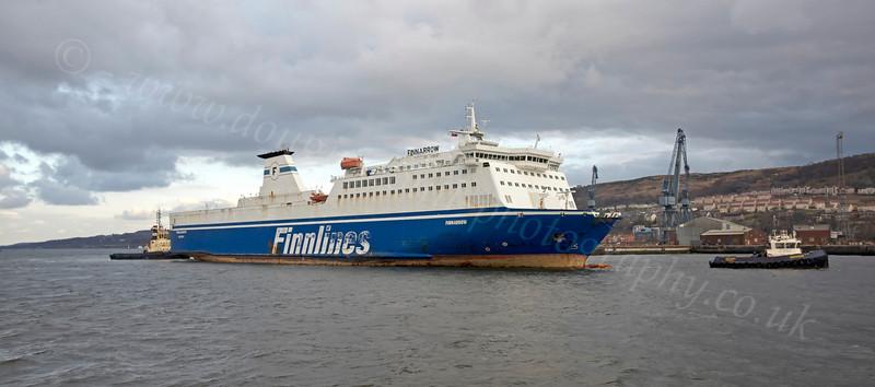 MV Finnarrow Heading for the Repair Quay - 20 March 2013
