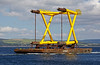 Barge 'Stemat 85' - Passing Port Glasgow with Wind Farm Structure Bound for Methil - 4 September 2013