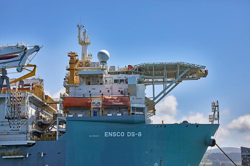 'Ensco DS 8' at Hunterston - 13 June 2021