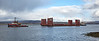 Tugs towing Barge off Port Glasgow - 24 March 2018