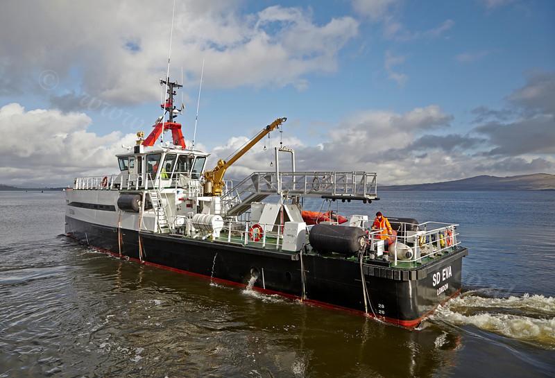 'SD Eva' Departing Customhouse Quay - 1 March 2014