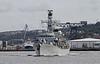 HMS Sutherland - Passing Greenock - 26 September 2011
