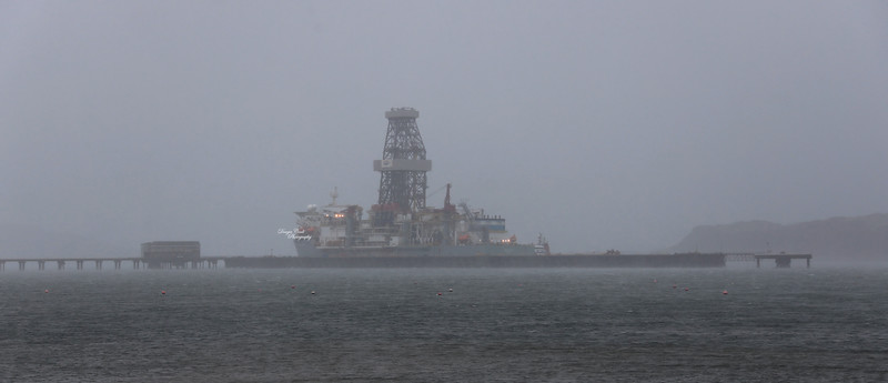 Valaris DS 4 and Ensco DS 8 at Hunterston - 4 February 2021