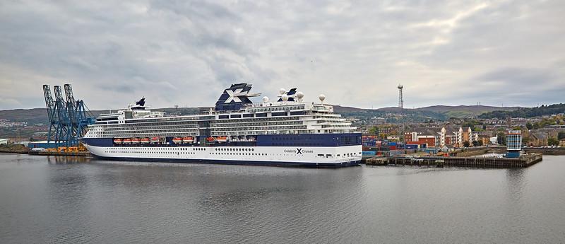 'Celebrity Infinity' at Greenock Ocean Terminal - 3 September 2014