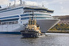 Ayton Cross assisting the Silja Europa at Greenock - 21 October 2021