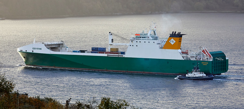 MV Eddystone off Portenciple - 17 October 2018